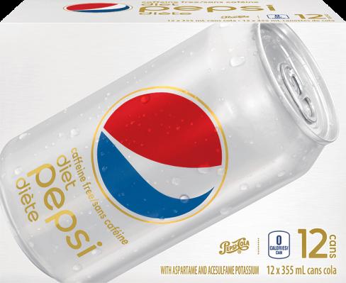 Pepsi Diète Sans Caféine 12 x 355 mL