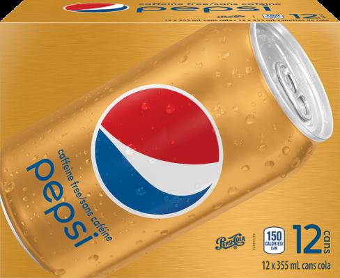 Pepsi Sans Caféine 12 x 355 mL