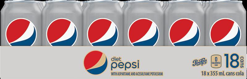 Pepsi Diète 18 x 355 mL