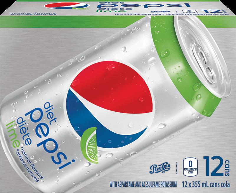 Pepsi Diète Lime 12 x 355 mL