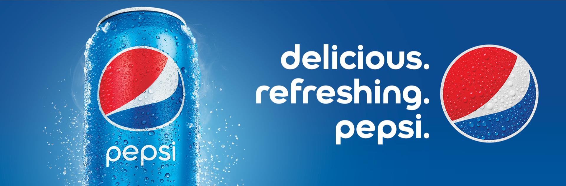 Delicious. Refreshing. Pepsi.