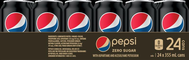 Pepsi Zero Sugar 24x355ml